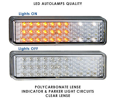 PAIR LED Bullbar Indicator and Parker Light Clear Lens Suits many bullbars 175AW