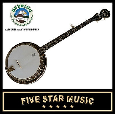 DEERING EAGLE II BANJO 5 STRING RESONATOR - NEW - USA MADE with CASE Eagle 2