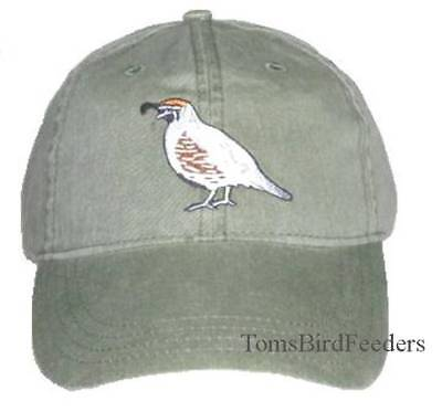 Gambel's Quail Embroidered Cotton Cap NEW