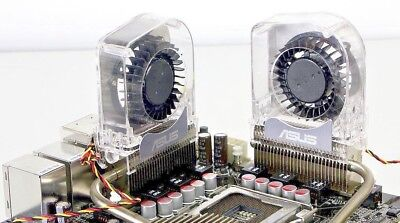 Lot of 2 ASUS P6X58D PREMIUM P5Q-E M4A79T DELUXE Heatpipe VRM Optional Fan