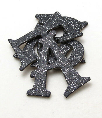 "Black Glitter Textured Chipboard Alphabet Letter 60 pcs set 1.5"" stickers avail."