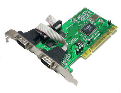 LogiLink PC0016 PCI Schnittstellenkarte Seriell 2x Plug-and-Play 9-pin extern