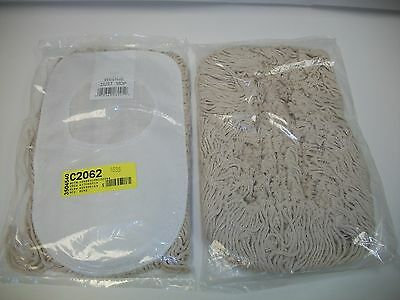 Lot of 2 UNISAN Wedge Dust Mop Head, Cotton, 17-1/2 x 13-1/2, White (1491)