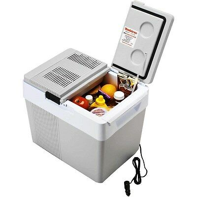 33 Qt Thermoelectric Car Cooler & Heater, 12 Volt Electric Compact Travel Fridge