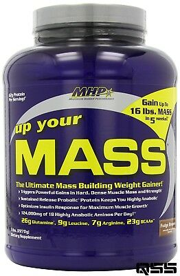 MHP UP YOUR MASS 2LB/5LB/10LB PROTEIN WEIGHT GAINER BUILDER BCAA's LEUCINE HARD