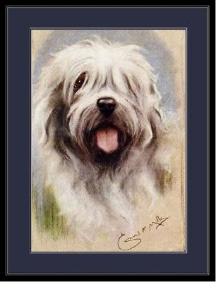 English Picture Print Old English Sheepdog Dog Art