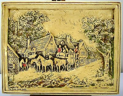 "IVOR-TONE WARE SATIN TONE CHALKWARE ""THE ROAD SIDE INN"" - 12"" x 9"" WALL PLAQUE"