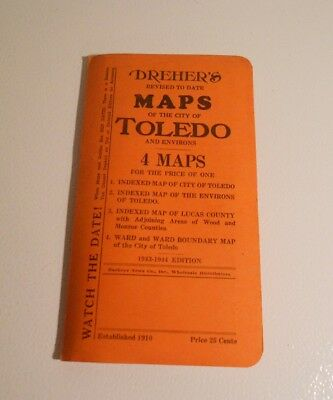 Vintage Map of Toledo, 1943-44 Edition
