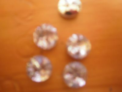 20 X 8mm aprox CRYSTAL CLEAR SEW ON RHINESTONES WITH SILVER BACK