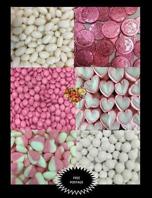 DIY Candy Buffet Pink & White Lolly Colour Theme Lollies