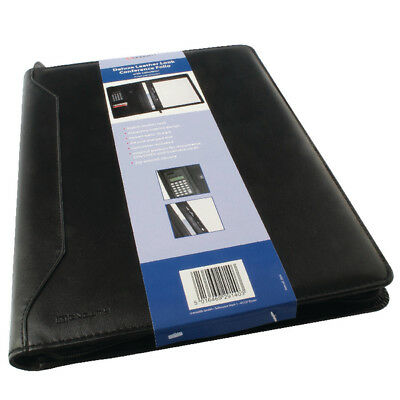 Monolith Conference Folder With A4 Pad and Calculator Black 2914