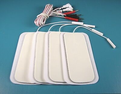 TENS Machine Lead Wires / Cables + Large Electrode Pads