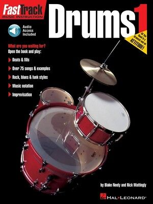 New Fasttrack Drums 1 Book & CD - Fast Track Music Book