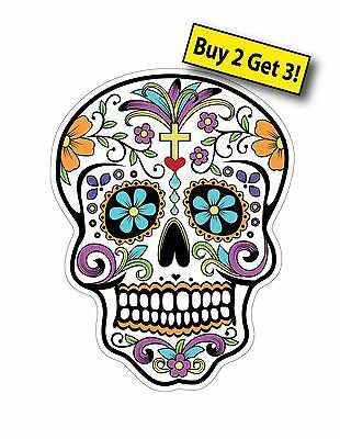"""Day of the Dead Cross Tatto 2 3/4"""" X 3 3/4"""" Car Truck Sticker Decal DOD18"""