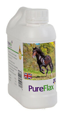 Pureflax for Horses Flax Oil - 1 Lt - Horse/Pony Supplements