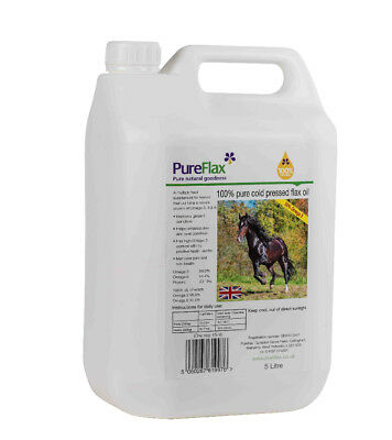 Pureflax Flax Oil Supplement for Horses x 5 Lt - Horse/Pony Supplements