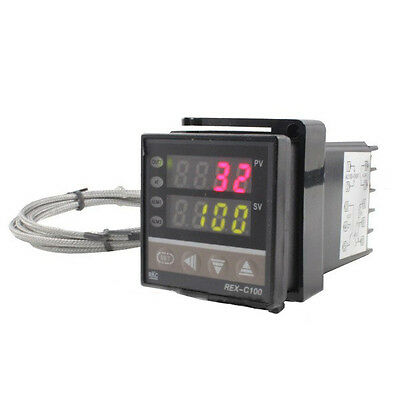 PID LED Digital Temperature Controller Relay Output+2 Meters K type Thermocouple
