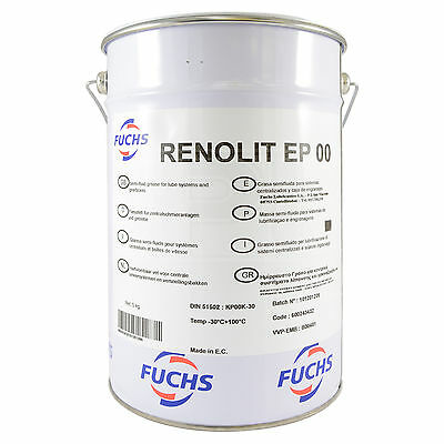 Fuchs RENOLIT EP 00 GREASE EP00 Semi-Fluid Grease 5kg