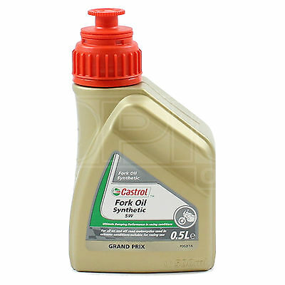 Castrol Fully Synthetic Fork Oil 5W Suspension Fluid 500ml 0.5L