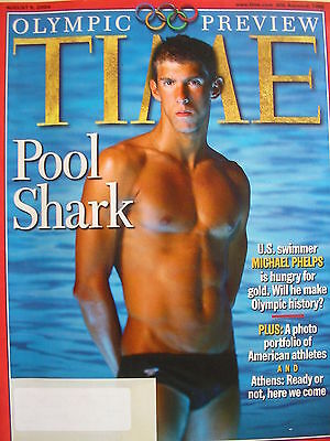 MICHAEL PHELPS  2004 OLYMPIC PREVIEW  August 9, 2004 TIME Magazine