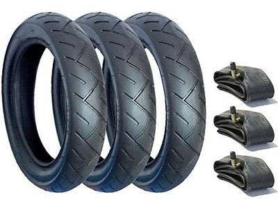 Set Of Tyres & Tubes Size 12 1/2 X 2 1/4 (57-203) Posted 1St Class Free