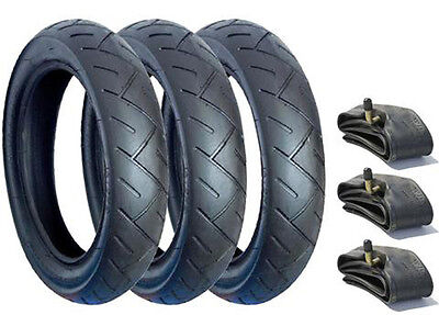 Set Of Tyres And Tubes For Jane Powertrack 360 Pushchairs 12 1/2 X 2 1/4