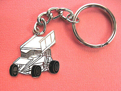 WINGED  SPRINT  CAR - keychain