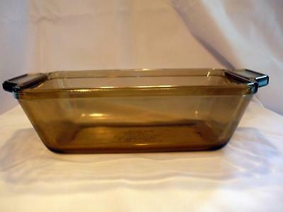 Vintage Anchor Ovenware Loaf Dish Pan 7 1041  9 X 5.25 X 2.75 Topaz  Clear Brown