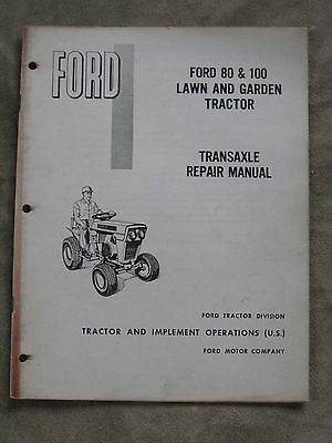 Ford Lawn 80 100 Tractor Transaxle Repair Manual ORIGINAL