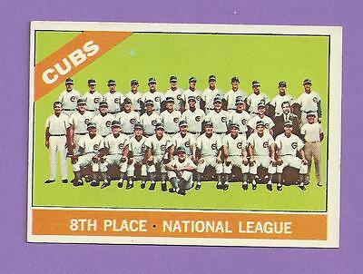 1966 Topps Chicago Cubs Team #204 EX+/EXMT *G0204-3* FLAT SHIPPING