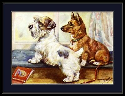 Picture Print Sealyham Terrier Welsh Corgi Dog Art
