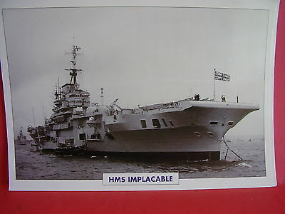 HMS IMPLACABLE AIRCRAFT CARRIER  BOAT  PICTURE  25cm X 17cm STUNNING FREE UK P&P