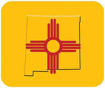 Mouse Pad State Flag Thick Mousepad - New Mexico