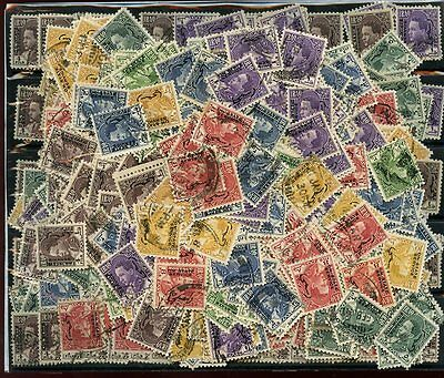 OFFICIALS 1934 etc.. 700 stamps FINE USED DUPLICATED OVERPRINTS