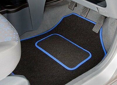 Toyota Hilux Double Cab (1997 - 2005) Tailored Car Mats With Blue Trim (2938)