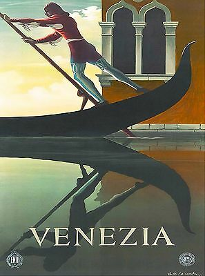 Venezia Venice Italy Vintage Art Travel Advertisement Poster Picture Print