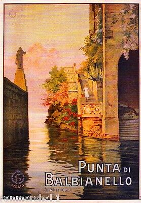 Punta di Balbianello Italy Vintage Art Travel Advertisement Poster Picture Print