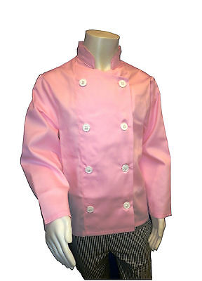 Quality Kids Pink Chef's Jacket (aged 13/14 YEARS)