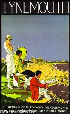 Tynemouth Great Britain Vintage Travel Advertisement Poster Picture Print