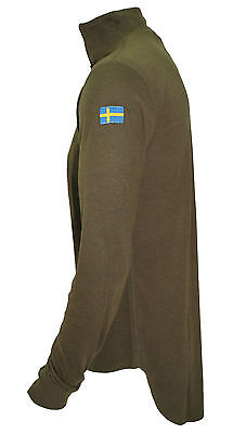 Swedish Roll neck, quarter zip, extended tail, thermal undershirt. 20065 Swedish