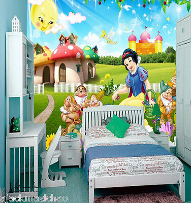 Snow White & 7 dwarves Wall Paper Wall Print Decal Wall Deco Indoor wall Mural