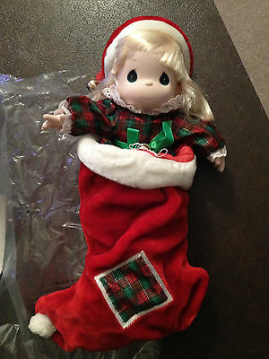 Precious Moments Stocking Doll - Jingles - QVC 1997 - Christmas collectible