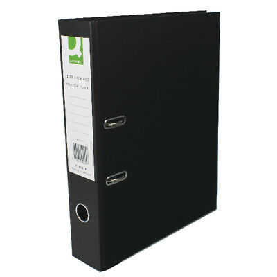 Q-Connect Paper Over Board Black Lever Arch Foolscap File (Pack of 10) KF20029