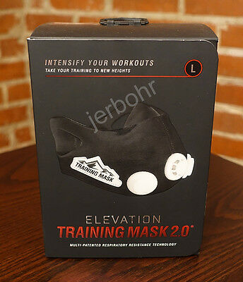 ELEVATION Training Mask 2.0 High Altitude MMA Fitness - Large = 250 - 300 lbs.