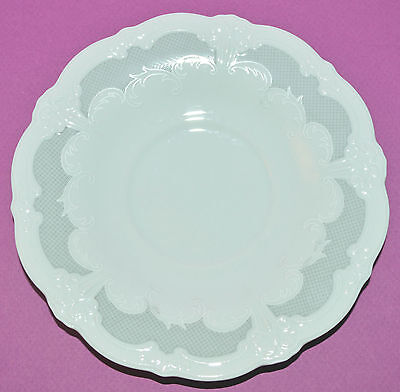 Tirschenreuth ORLEANS Baronesse SAUCER ONLY! Gray lattice Embossed German China