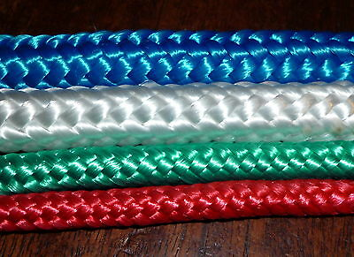 Red blue green white 6mm 8mm 12mm braid polyester rope yacht sailing boat  DI