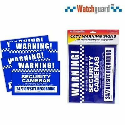 CCTV Security Warning Stickers A4Size 4Pack
