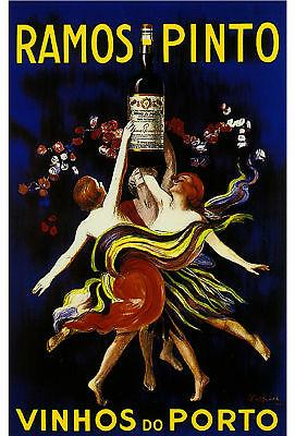 Ramos Pinto Wine French Food Advertisement Label Art Vintage Poster Print