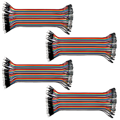 40 Wire Male to Female Jumper Wire 20cm; 40P Color Wires Ribbon Cable Arduino Pi