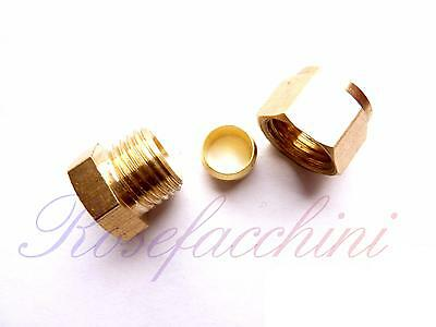 Brass Compression Fitting Joint Stop End Cap Olive Nut Pipe Blank Seal Stopend